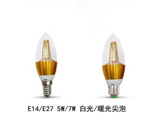 E27尖泡5W白光光源 图片右侧