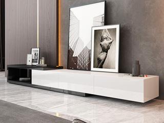 现代简约 黑白 亮光烤漆 电视柜