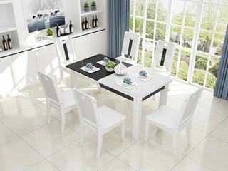 现代简约 钢化玻璃餐桌