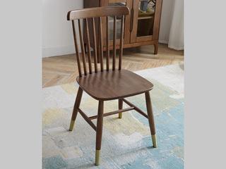 北欧 胡桃色 餐椅 温莎椅