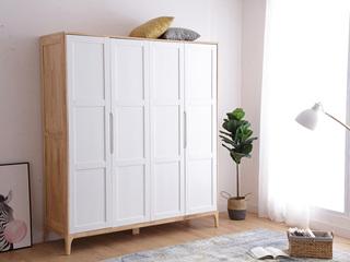 北欧印象 北欧风格 泰国进口橡胶木衣柜
