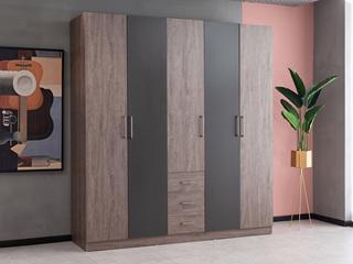科隆印象 现代简约 高级灰 储物家用 五门衣柜
