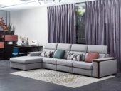 芬洛 現代簡約 棉麻布 彈簧底坐 轉角沙發(1+3+右貴妃)