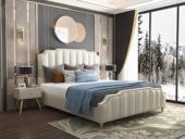 皮坊工藝 輕奢系列 皮藝 207 米白色1.8米皮藝床