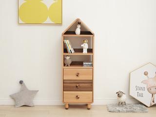 北欧风格 榉木坚固框架 手工木蜡油工艺 曲奇色 ET6505高书柜