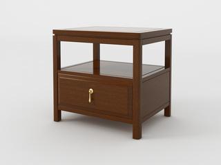 新中式 小乌金木 FA1905床头柜