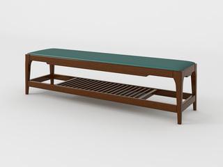 新中式 小乌金木 FA1901床尾凳