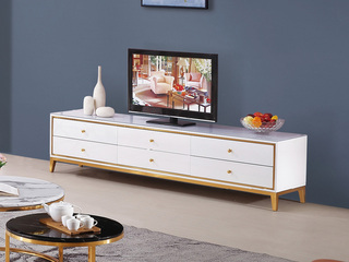 轻奢风格 钢化玻璃 1.8米电视柜
