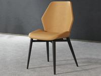 米勒 極簡風格 橘黃色 餐椅