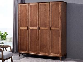 北欧风格 北美进口白蜡木 四门衣柜