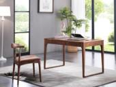 源木时光 北欧风格 北美进口白蜡木 书桌