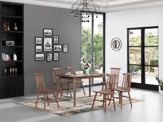 北欧风格 北美进口白蜡木 1.4米餐桌