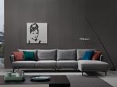 洛林菲勒 极简风格 科技布 实木底框架 转角沙发(1+3+左贵妃)