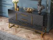 卡伦斯特 轻奢风格 环保烤漆 不锈钢拉丝封釉镀钛金 餐边柜