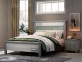 梓华轩 简美 卡慕斯系列 泰国进口橡胶木 坚韧稳固 撞色设计 1.5*1.9m儿童床