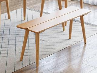 北欧风格 榉木坚固框架 原木色 长条凳