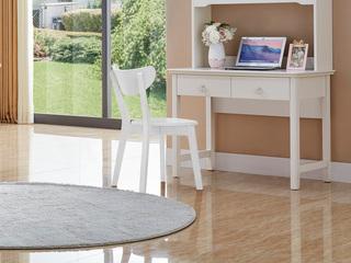 简美风格 泰国进口橡胶木 白色椅子