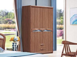 中式风格 泰国进口橡胶木 胡桃色 9005 儿童衣柜
