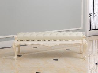 法式家具系列 实木 床前凳