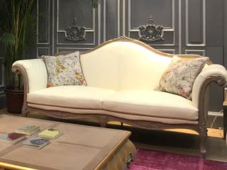 法式风格 欧洲进口榉木 桃花芯 柔软座包 饱满不易塌陷 复古宫廷风 双人沙发