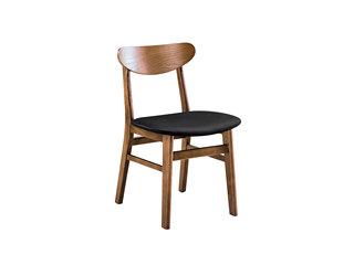 北欧风格 北美进口白蜡木 优雅清晰木纹 西皮坐垫 胡桃色餐椅