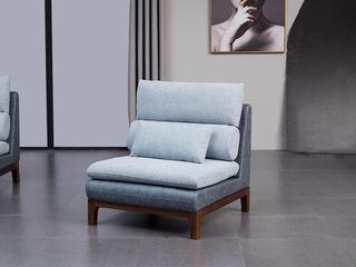 意式极简 胡桃木框架 透气清爽麻布软包 强力承托海绵 时尚科技布 中位沙发