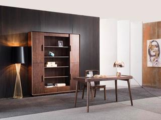 意式极简 精品胡桃木 优雅木纹 原木清香 书桌