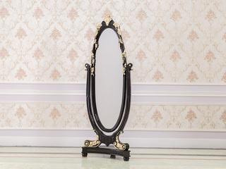 进口桃花芯木实木黑檀色礼仪镜穿衣镜