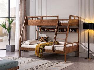北欧风格 北美进口白蜡木 健康原木 小户型专属 儿童子母床