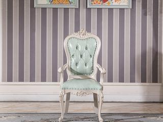 简欧风格 进口榉木坚固框架 头层牛皮 书椅