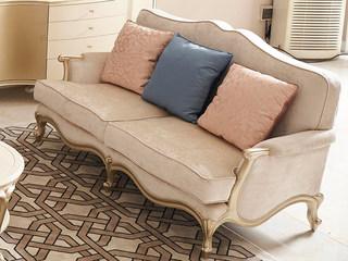 简美风格 北美进口榉木坚固框架 提花布面料 二人位沙发