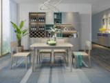 简图 现代简约 北美进口白蜡木 1.2m餐桌