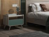 简图 现代简约 进口白蜡木 高斜脚 床头柜