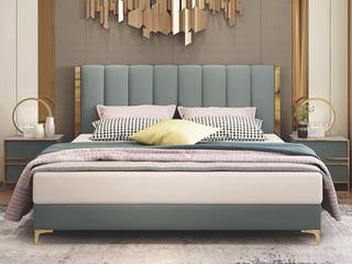轻奢风格 皮艺 1.8*2.0米床(搭配10公分松木排骨架)