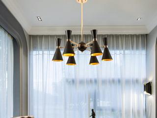 后现代 创意个性艺术灯具 黑+金 6头 (含G9暖光5W)