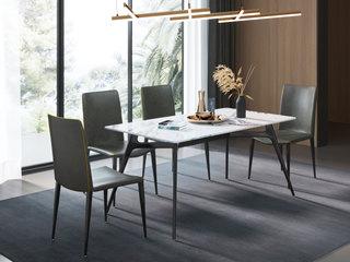 极简风格 1.6米 防刮耐磨岩板餐桌