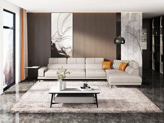 极简风格 高弹舒适 优质科技布 1+3+左贵妃 沙发组合