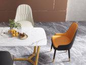 卡罗亚 现代简约 橙+棕色 餐椅(单把价格 需双数购买 单数不发货)
