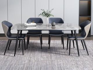 极简 意大利深灰奢石 1.6米 餐桌