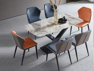 极简 意大利灰岩板 1.6米 餐桌