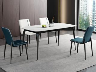 极简 劳伦白金岩板 1.5米 餐桌