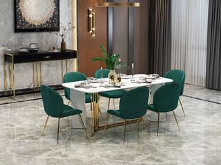 轻奢 大理石 2.0米 餐桌