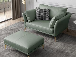 轻奢风格 超柔舒适 优质科技皮 双扶手单人位沙发(不含脚踏)