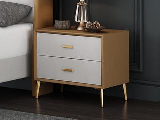 現代簡約 黃色+米白 床頭柜
