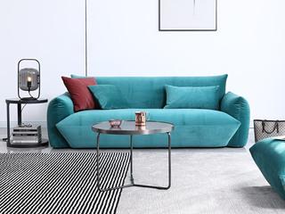 极简风格 海虎绒布 俄罗斯进口落叶松框架 高密度海绵 三人位沙发