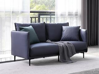 极简风格 科技布面料 俄罗斯进口落叶松框架 双人位沙发