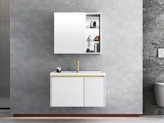 【包邮 送货到家】 现代简约风格 铝合金防水材质 陶瓷一体盆 70CM 浴室柜套装(龙头需单独购买)