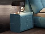 卡罗亚 极简风格 天蓝色 布艺 床头柜