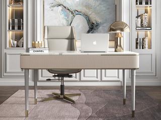 轻奢 岩板 书桌(长1600mm)