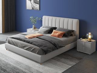 现代简约 优质细麻 浅灰色1.5*2.0米床